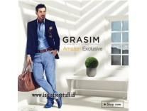 Grasim Men's Clothing 65% Off + 20% Cashback on Rs. 750 from Rs. 418 @ Amazon