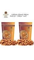 Golden Nut California Almonds 200Grams(Pack Of 2)