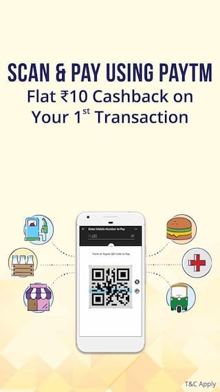 Pay by scanning PayTm QR code & Get Rs. 10 cashback on Rs. 20 [1st Transaction]
