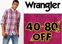 [WRANGLER] Shirts at FLAT 50% - 80% OFF + Extra Rs. 500 OFF + Free Shipping
