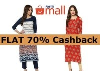 Get Flat 70% Cashback On Women's Stylish Kurties From Just Rs.539
