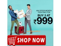 Clothing, Footwear & Accessories Buy 3 Rs. 999 @ Jabong