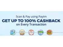 Pay by scanning PayTm QR code & Get upto 100% Cashback on Petrol Pumps, Retail store, Auto Rides & more