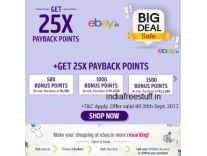 Ebay Payback offer 500/1000/1500 Bonus points on Rs. 500/1000/1500 purchase