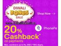 Ebay 20% Cashback upto Rs. 200 with PhonePe Wallet [14th - 17th Oct]