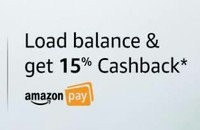Amazon pay New User Offer: Load 300 or more and get 15% back, up to Rs.150 (1...