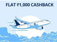 [live again] Flat 1000 Cashback on Flight ticket booking on Paytm
