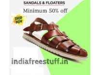 Men's Sandals & Floaters Minimum 50% off from Rs. 176 @ Flipkart
