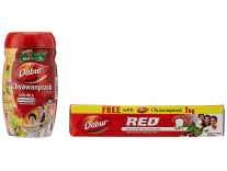 Dabur Chyawanprash 1kg + Free Dabur Red Tooth Paste 150 g Rs. 305 - Amazon