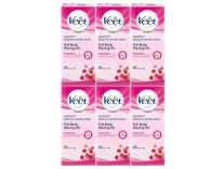 Veet Full Body Waxing Kit (20 strips)-Pack Of 6 fat 50% off