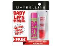 Maybelline Watermelon Smooth Baby Lips Lip Balm with Free Winter Flush Tinted Lip Balm Rs. 108 @ Myntra