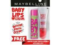 Maybelline Watermelon Smooth Baby Lips Lip Balm with Free Winter Flush Tinted Lip Balm Rs. 127 - Myntra