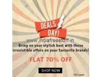 Clothing, Footwear & Accessories Minimum 70% off + Free Shipping @ Myntra
