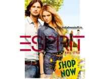 Esprit Clothing Minimum 60% off + Free Shipping from Rs. 294- Myntra