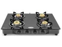 Ideale Quatre Steel Manual Gas Stove 4 Burner Rs. 2699 - Flipkart