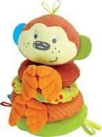 Winfun Little Pals Cheky Chimp Stacker Squkrs and Crinkle. Rattle (Multicolo...