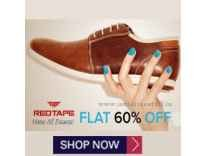 Red Tape Footwear 60% off from Rs. 200 - Ajio