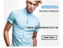 Men's Clothing Minimum 60% off from Rs. 153- Flipkart