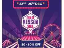 [22nd - 25th Dec] Myntra End of Season Sale 50% to 80% Off + 15% Cashback