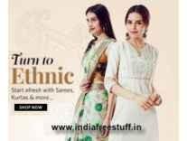 Sarees & Dress Materials Min 90% off from Rs. 289 - Flipkart