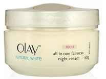 Olay Natural White Healthy Fairness Night Cream 50g Rs.499 - Amazon