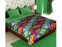 Story@Home Cloral Collection Fleece Abstract Polyester Double Blanket Rs. 199 @ Amazon
