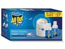 All Out Power Plus Slider Refill and Machine Value Pack Rs. 124 - Amazon