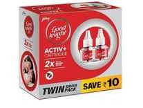 Good knight Activ+ Liquid Refill, 45ml (Pack of 2) Rs. 125 - Amazon