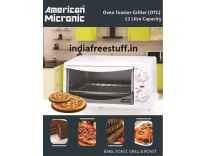 American Micronic 12 Litre Imported Oven Toaster Griller Rs. 1799 - Snapdeal
