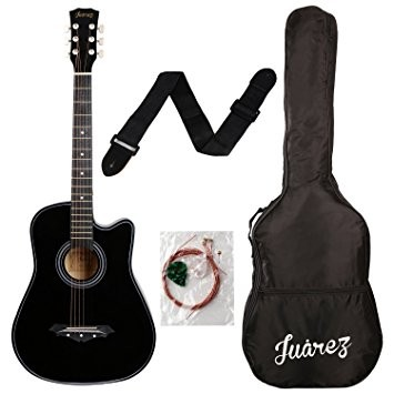 Juarez Acoustic Guitar, 38 Inch Cutaway Rs.2990 - Amazon