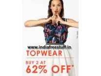 Ajio Women's Top Wear Buy 2 Get 62% off