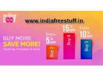 Flipkart Fashion upto 60% off + Buy 2 Get 10% off, Buy 3 Get 15% off