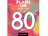 Clothing, Footwear & Accessories Minimum 80% off + 10% Cashback - Jabong