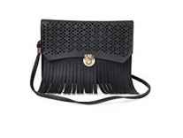 Classic Fashion black color pu for womens sling bag Rs.269 - Amazon