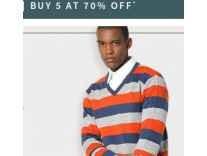 Ajio Buy 3 Get 65% off, Buy 5 Get 70% off