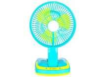 Jy Super Rechargeable Ac-Dc 2 Speed And 21 SMD Light 3 Blade Table Fan (Multi Color) Rs.736 - Flipkart