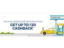 Petrol Pumps upto Rs.20 Cashback on Rs.20 with PayTm Wallet