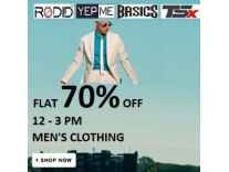 Men's Clothing minimum 70% off from Rs. 137 @ Flipkart