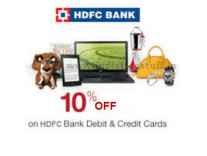 HDFC Cards 10% Instant Discount on Rs. 500 @ Snapdeal
