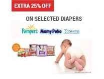 Diapers Minimum 30% to 60% off from Rs. 284 @ Flipkart